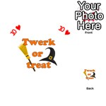 Twerk or treat - Funny Halloween design Playing Cards 54 (Heart)  Front - Heart10