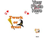 Twerk or treat - Funny Halloween design Playing Cards 54 (Heart)  Front - HeartQ