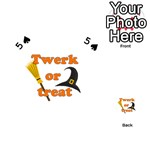 Twerk or treat - Funny Halloween design Playing Cards 54 (Heart)  Front - Spade5
