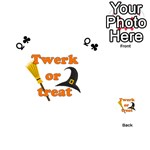 Twerk or treat - Funny Halloween design Playing Cards 54 (Heart)  Front - ClubQ