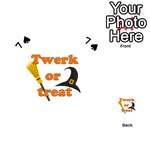 Twerk or treat - Funny Halloween design Playing Cards 54 (Heart)  Front - Spade7