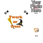 Twerk or treat - Funny Halloween design Playing Cards 54 (Heart)  Front - Spade10