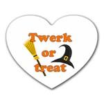 Twerk or treat - Funny Halloween design Heart Mousepads Front