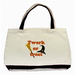 Twerk or treat - Funny Halloween design Basic Tote Bag (Two Sides) Back
