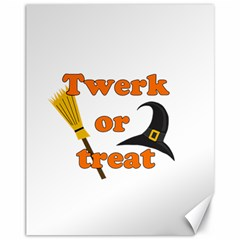 Twerk or treat - Funny Halloween design Canvas 11  x 14