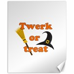 Twerk or treat - Funny Halloween design Canvas 11  x 14   14 x11 Canvas - 1