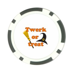Twerk Or Treat   Funny Halloween Design Poker Chip Card Guards