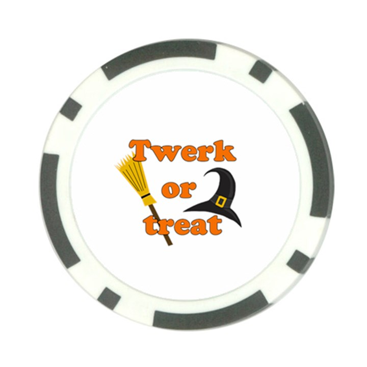 Twerk or treat - Funny Halloween design Poker Chip Card Guards