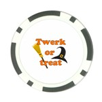 Twerk or treat - Funny Halloween design Poker Chip Card Guards Back