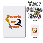 Twerk or treat - Funny Halloween design Multi-purpose Cards (Rectangle)  Back 33