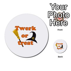 Twerk Or Treat   Funny Halloween Design Multi Purpose Cards (round)