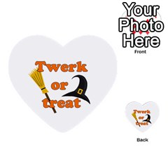 Twerk Or Treat   Funny Halloween Design Multi Purpose Cards (heart)