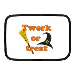 Twerk Or Treat   Funny Halloween Design Netbook Case (medium)