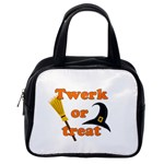 Twerk or treat - Funny Halloween design Classic Handbags (One Side) Front