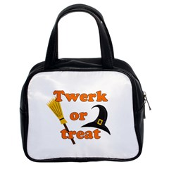 Twerk Or Treat   Funny Halloween Design Classic Handbags (2 Sides)