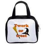 Twerk or treat - Funny Halloween design Classic Handbags (2 Sides) Front