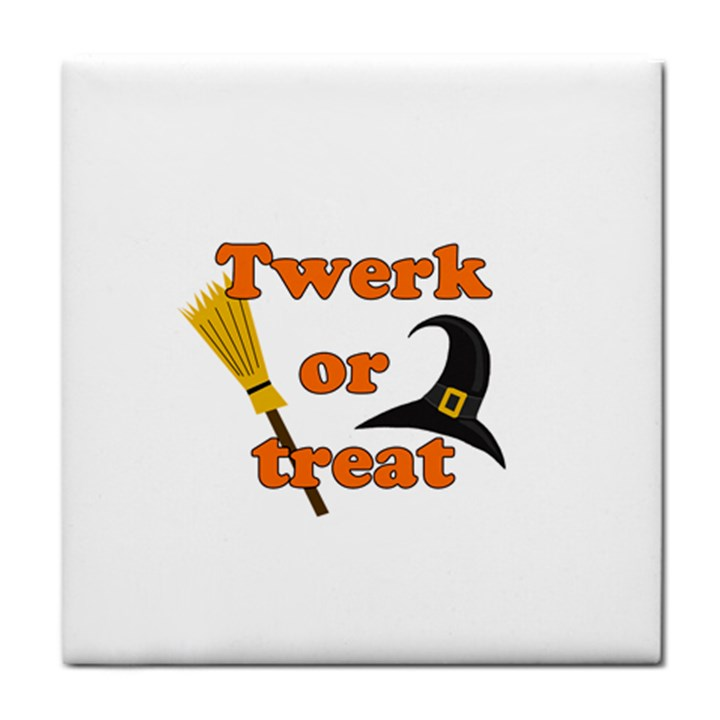 Twerk or treat - Funny Halloween design Face Towel