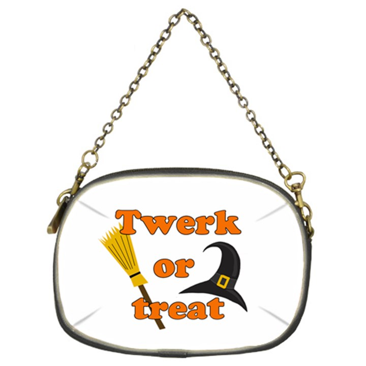 Twerk or treat - Funny Halloween design Chain Purses (Two Sides)