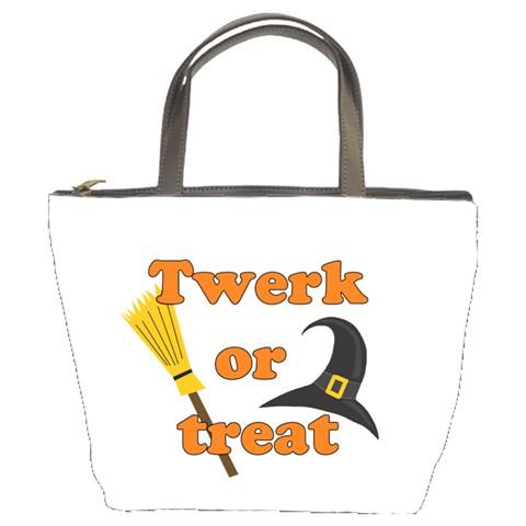 Twerk or treat - Funny Halloween design Bucket Bags