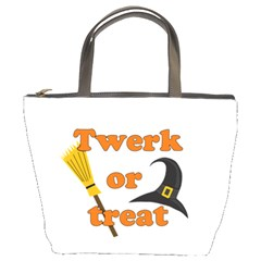 Twerk or treat - Funny Halloween design Bucket Bags