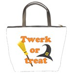 Twerk or treat - Funny Halloween design Bucket Bags Back