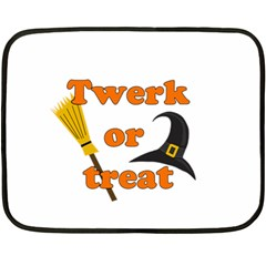 Twerk Or Treat   Funny Halloween Design Fleece Blanket (mini)