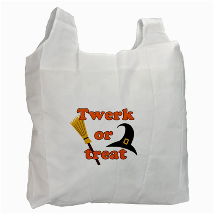Twerk or treat - Funny Halloween design Recycle Bag (Two Side)