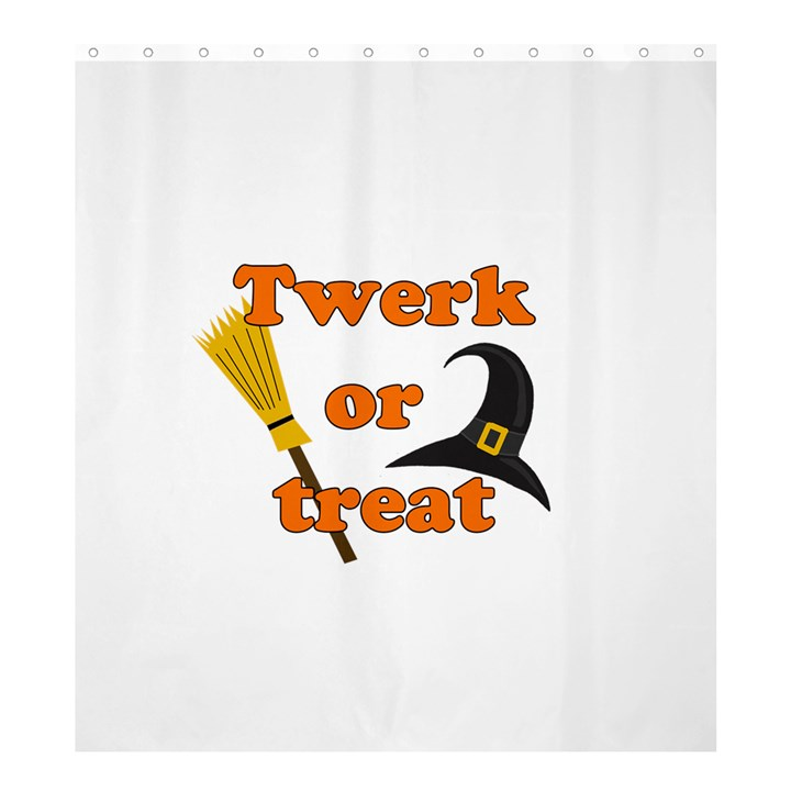 Twerk or treat - Funny Halloween design Shower Curtain 66  x 72  (Large)