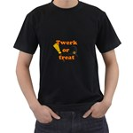 Twerk or treat - Funny Halloween design Men s T-Shirt (Black) Front