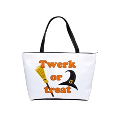 Twerk or treat - Funny Halloween design Shoulder Handbags