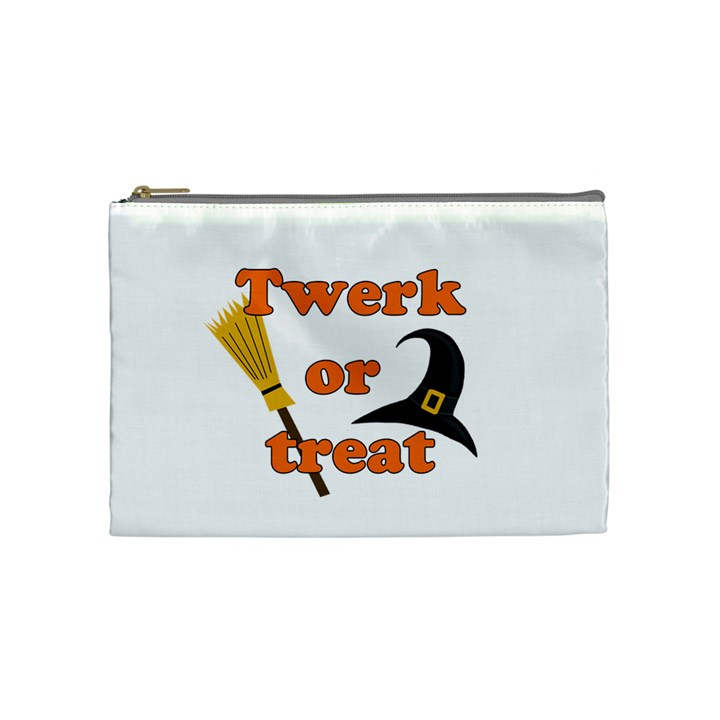 Twerk or treat - Funny Halloween design Cosmetic Bag (Medium)