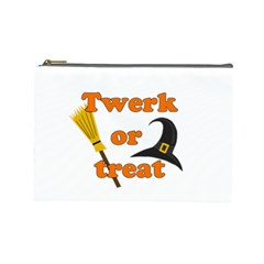 Twerk or treat - Funny Halloween design Cosmetic Bag (Large)