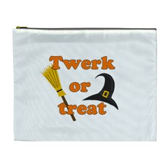 Twerk Or Treat   Funny Halloween Design Cosmetic Bag (xl)