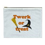 Twerk or treat - Funny Halloween design Cosmetic Bag (XL) Front