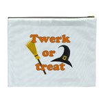 Twerk or treat - Funny Halloween design Cosmetic Bag (XL) Back