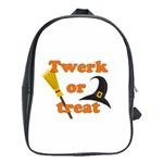 Twerk or treat - Funny Halloween design School Bags(Large)  Front