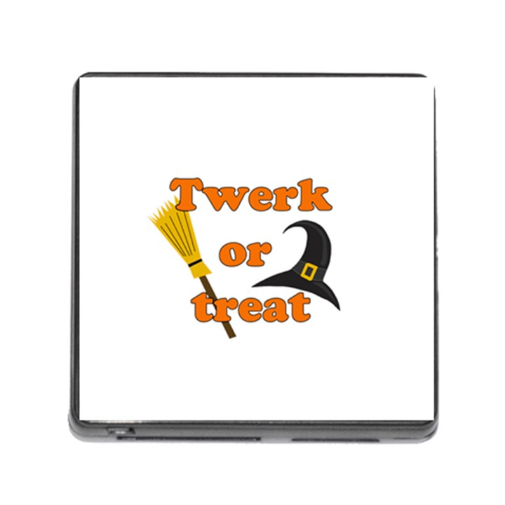 Twerk or treat - Funny Halloween design Memory Card Reader (Square)