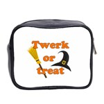 Twerk or treat - Funny Halloween design Mini Toiletries Bag 2-Side Back