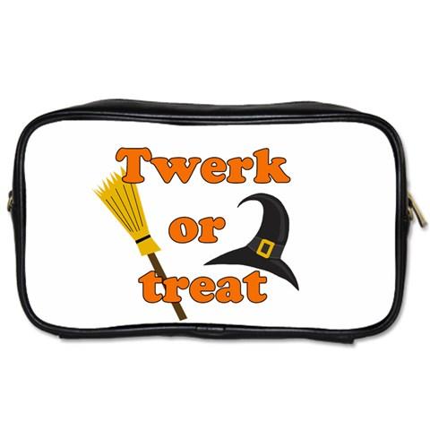 Twerk or treat - Funny Halloween design Toiletries Bags 2-Side