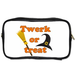 Twerk Or Treat   Funny Halloween Design Toiletries Bags 2 Side