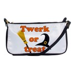 Twerk or treat - Funny Halloween design Shoulder Clutch Bags Front