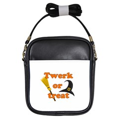 Twerk Or Treat   Funny Halloween Design Girls Sling Bags