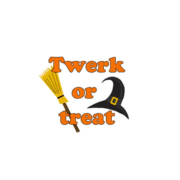Twerk or treat - Funny Halloween design 5.5  x 8.5  Notebooks