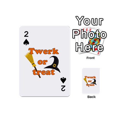 Twerk or treat - Funny Halloween design Playing Cards 54 (Mini)