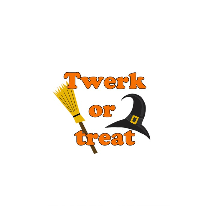 Twerk or treat - Funny Halloween design Shower Curtain 48  x 72  (Small)