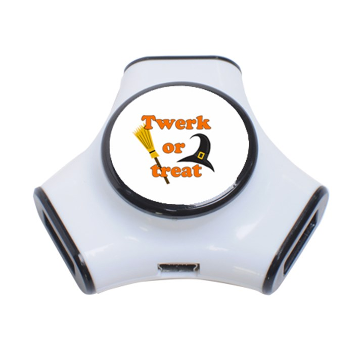 Twerk or treat - Funny Halloween design 3-Port USB Hub