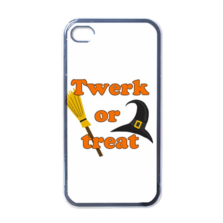 Twerk or treat - Funny Halloween design Apple iPhone 4 Case (Black)