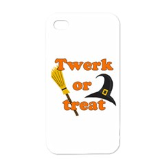 Twerk Or Treat   Funny Halloween Design Apple Iphone 4 Case (white)