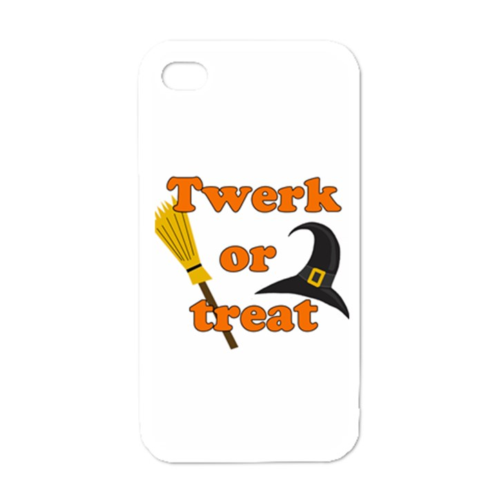 Twerk or treat - Funny Halloween design Apple iPhone 4 Case (White)