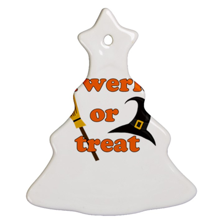 Twerk or treat - Funny Halloween design Ornament (Christmas Tree)
